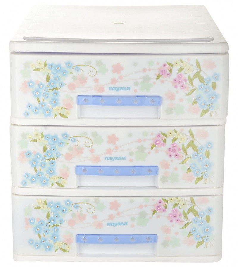 NAYASA TUCKINS DELUXE 13 Plastic Free Standing Chest of DrawersFinish ColorBLUEDoor